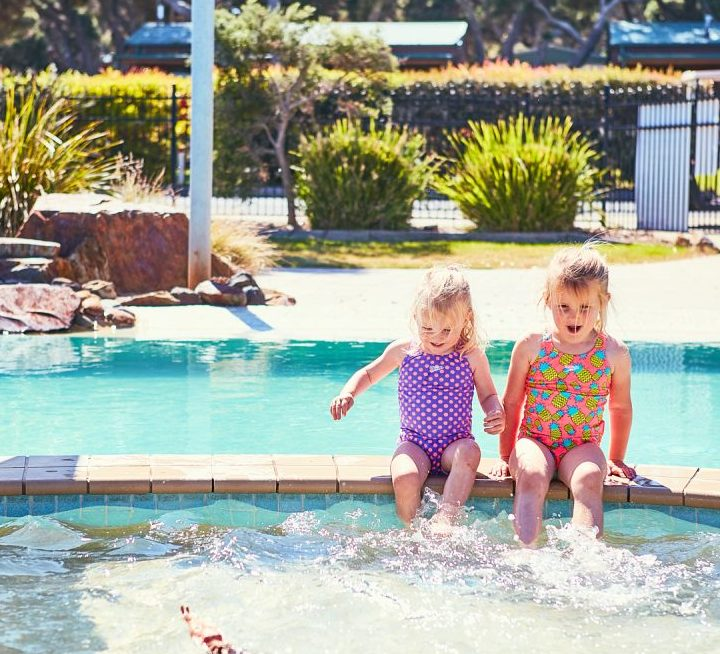 Enjoy the outdoor heated (seasonally) swimming pool which includes a shallow toddler section for all ages.