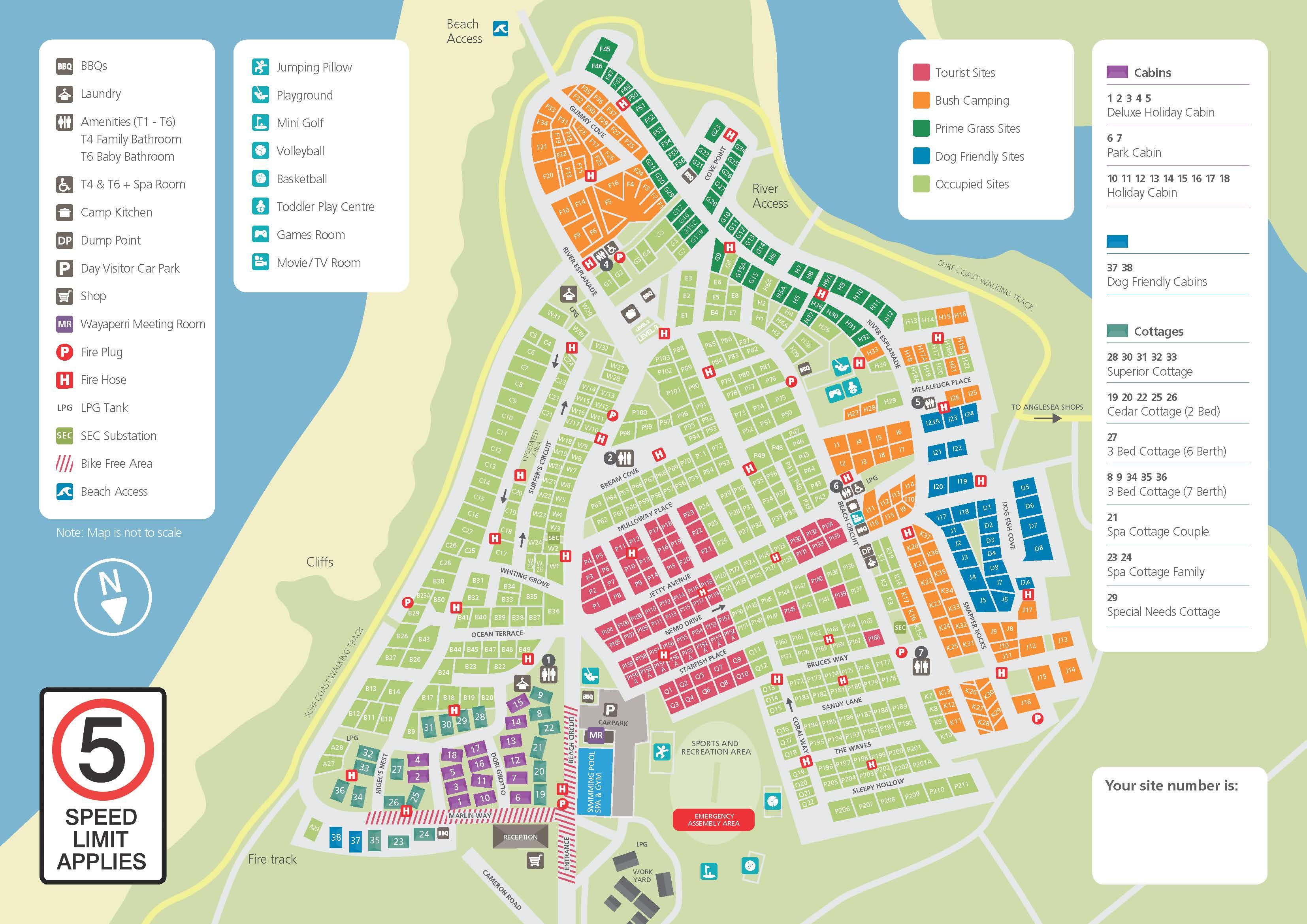 Park Map - Anglesea Family Caravan Park